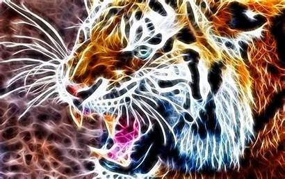 Tiger 3d Animal Structure Pixabay Abstract Surreal