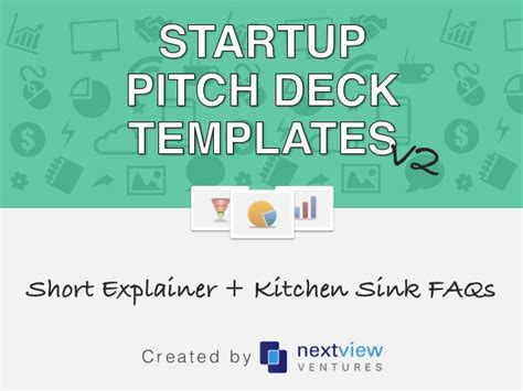 startup pitch deck template the kitchen sink appendix