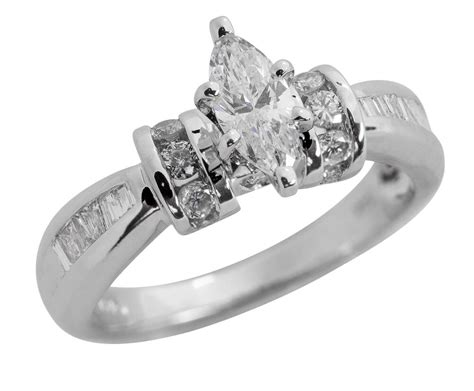 solid 14k gold 1 05 carat marquise engagement ring clearance sale ebay