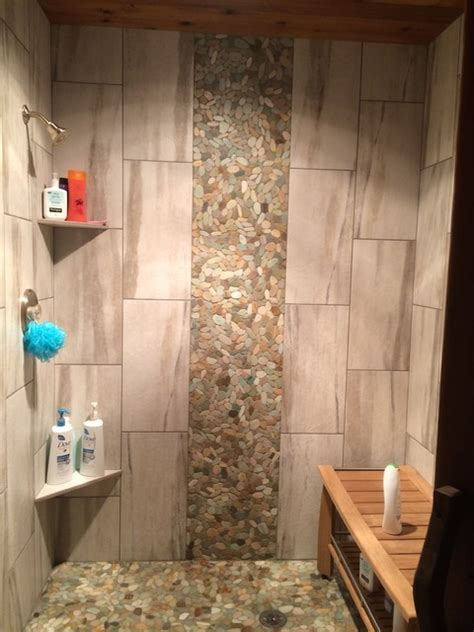 Kitchen Wall Tile Design Ideas - tile shower waterfall