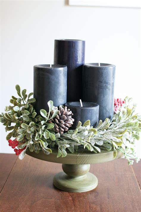 Moderner Adventskranz by How To Make A Beautiful Diy Modern Advent Wreath Diy