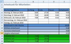 Excel Arbeitszeit Berechnen Formel : l sung arbeitszeit in excel ~ Themetempest.com Abrechnung