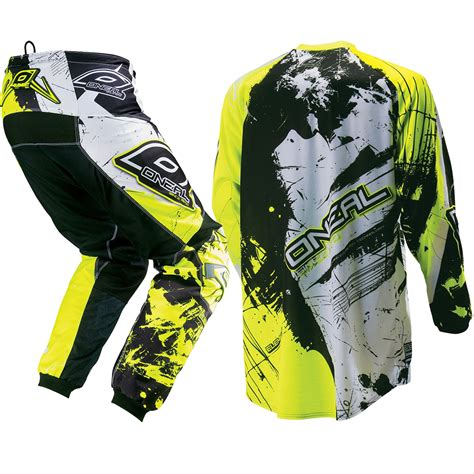 motocross gear for kids oneal new 2017 youth element shocker black neon yellow