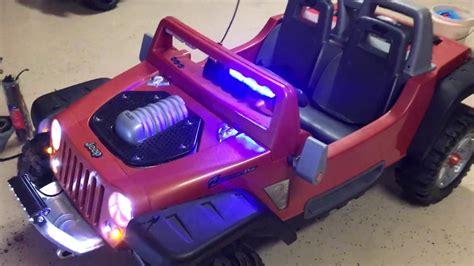 Jeep Hurricane Modifications Custom Power Wheels Youtube