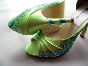 green shoes wedding wedding shoes peacock feather sale lime green by norakaren on etsy