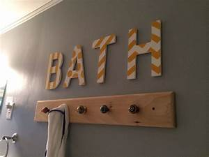 towel hooks for bathroom painters tape for pattern on With letter hooks hobby lobby