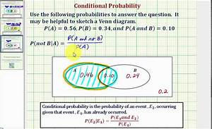 Ex 3  Determine A Conditional Probability Using A Venn