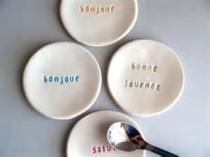 Plates with French Words