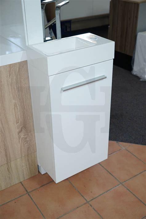 MINI   Compact 400mm White Gloss Polyurethane Small