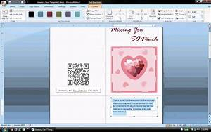 ms word tutorial part 1 greeting card template With how to make a card in microsoft word
