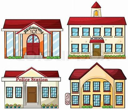 Buildings Building Clipart Police Illustration Vector Useful