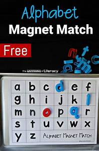 alphabet magnet match printable alphabet free printable With magnetic letter printables