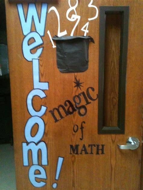 Math Decorations - welcome door magic of math math math math