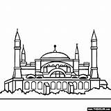 Sophia Hagia Coloring Istanbul Drawing Clipart Pages Turkey Famous Places Sketch Sofia Mosque Thecolor Landmarks Landmark Drawings Place Sketches Colored sketch template