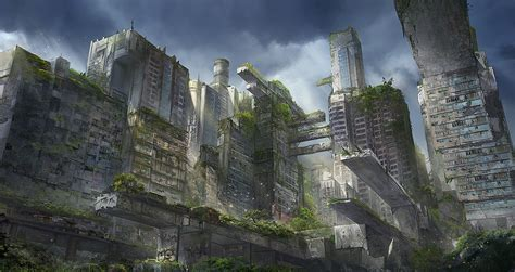 The Giants Of The Past  A Lost City By Flaviobolla On