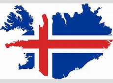 Clipart Iceland Flag Map