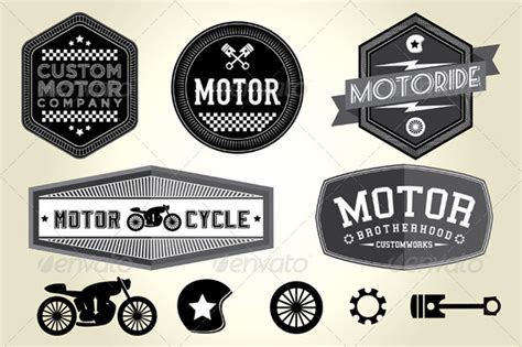 Vintage Motor Badges By Shasuw