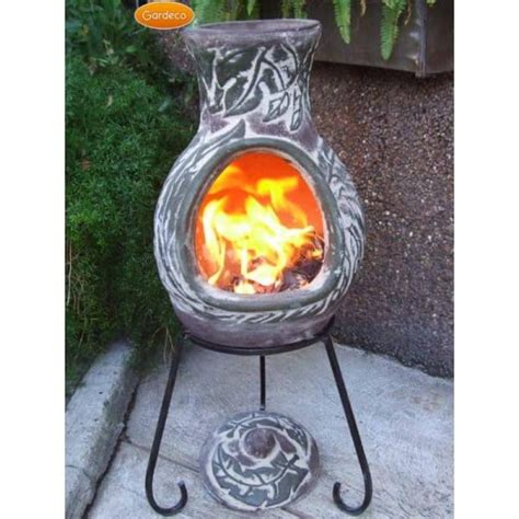 Chiminea Lid by Gardeco Elements Chiminea Earth Green Brown Leaf Design
