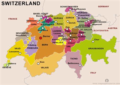 Free Switzerland Map | Map of Switzerland | Free map of ...