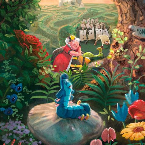 Disney Alice In Wonderland  Limited Edition Art The