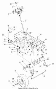 Mtd 13an771g729  2005  Parts Diagram For Steering