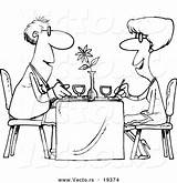 Restaurant Coloring Cartoon Couple Dining Vector Outlined Pages Colouring Sheets Outline Customer Royalty Resolution Graphic Toonaday Digitally Rendered Designed Vecto sketch template
