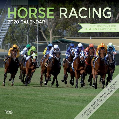 horse racing monthly square wall calendar animals