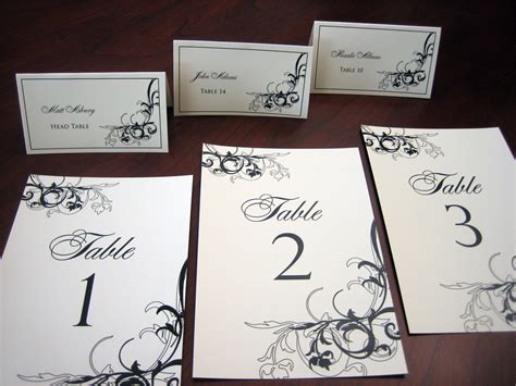 table number place cards place cards escort cards table number cards custom to