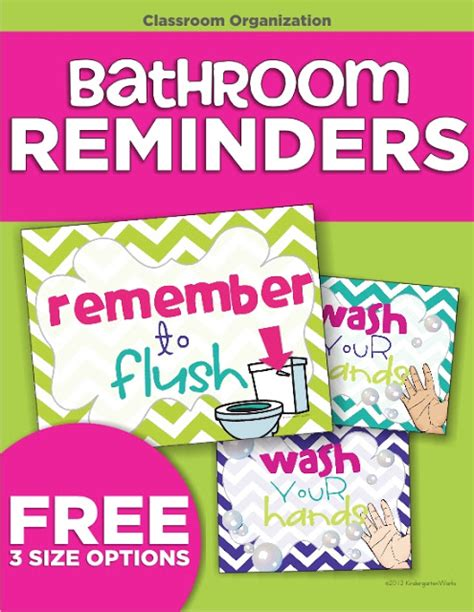 Printable Bathroom Signs For Preschool by Classroom Routines For The Restroom Wash And Flush
