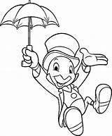Disney Cricket Coloriage Walt Jimminy Dessins Dessin sketch template