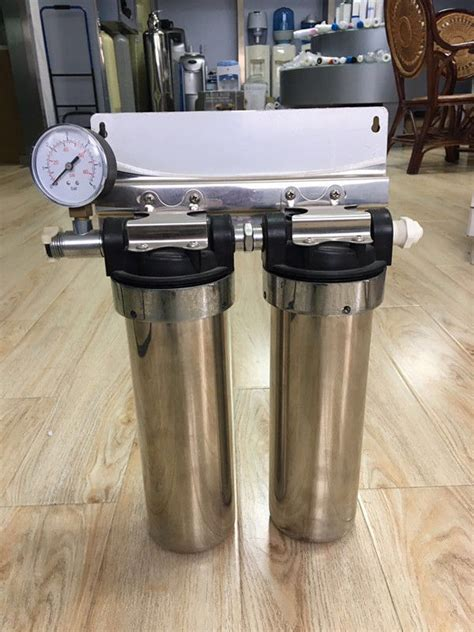 """Two Stage Under Sink 10"""" Stainless Steel Water Filter"""