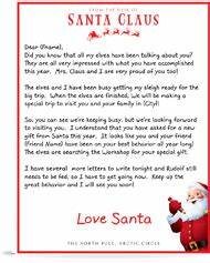You can buy quotletters from santaquot they come in an official for Personalized letter from santa with reindeer food
