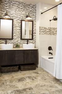 bathroom tiles ideas Brown Tile Bathrooms on Pinterest | Brown Bathroom Tiles, Beige Tile Bathroom and Pink Bathroom ...