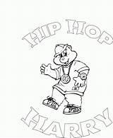 Coloring Hop Hip Printable Simone Biles Harry Template Easter Popular sketch template