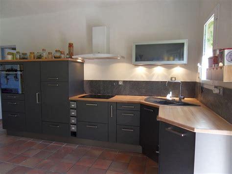 cuisine avec plan de travail en bois plan travail cuisine cuisine plan de travail plan de travail en quartz plan de