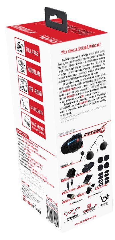 Motion Bluetooth Helmet Audio System Dual Kit Uclear