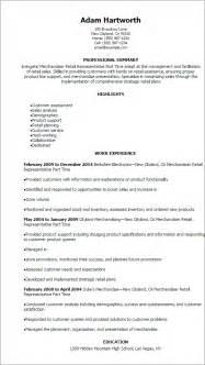retail inventory description resume professional merchandiser retail representative part time resume templates to showcase your