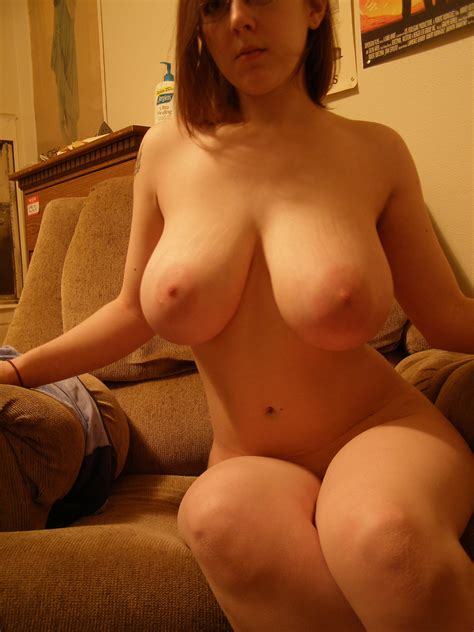 Chubby Teen With Glasses Showing Big Boobs