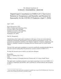 The National Academies | Rapid Expert Consultations on the