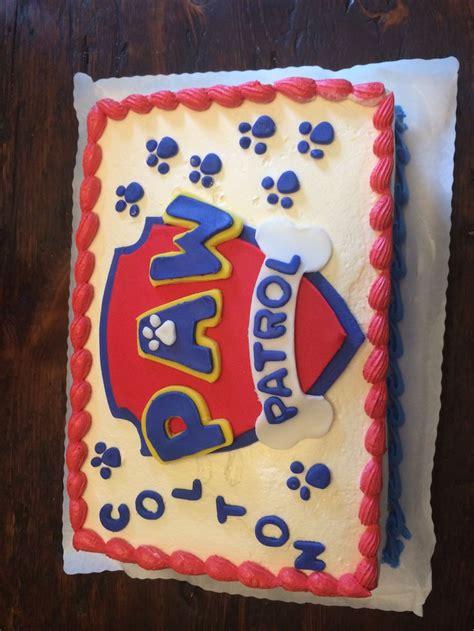 paw patrol cake   ordered  plain cake   fave