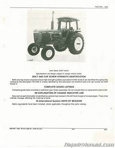 Used John Deere 4240 Tractor Parts Manual