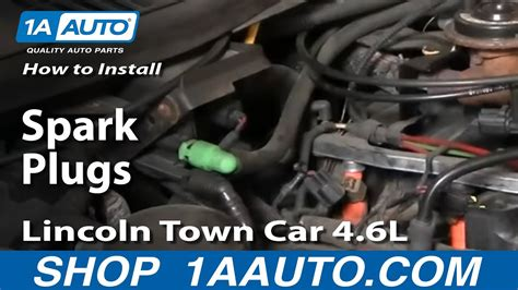 replace spark plugs   lincoln town car youtube