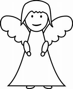 Angel Outline Clip Art at Clker.com - vector clip art ...