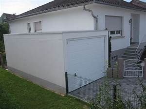 garage m tallique toit plat cr pis 2 voitures porte large With garage prefabrique beton en kit