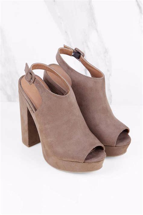 taupe color heels taupe heels open toe beige platform heels