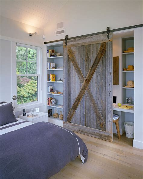 Wood Closet Doors For Bedrooms by 25 Bedrooms That Showcase The Of Sliding Barn Doors