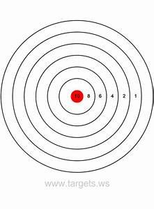 printable shooting targets colors are black white and With bullseye template printable