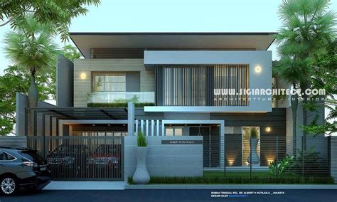 rumah mewah  lantai modern minimalis rumah modern