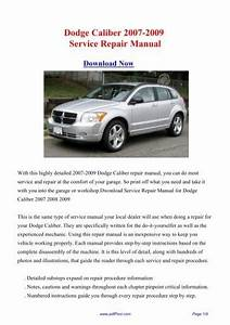 Dodge Caliber 2007-2009 Repair Manual