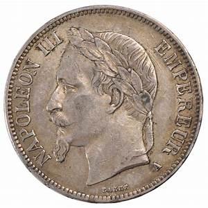 #57436 Second Empire, 5 Francs Napoléon III tête laurée ...